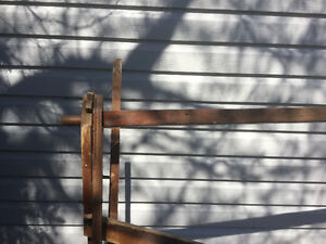 Old- fashioned quilting frame for hand quilting