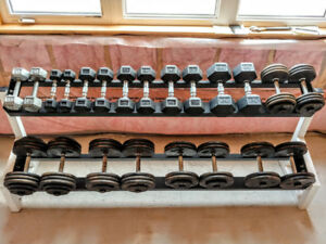 ★★★★★★★★ 710 POUNDS OF DUMBBELLS WITH RACK ★★★★★★★★