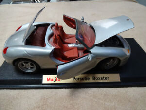 1/18 1998 porsche boxster die cast modelcar was used as display