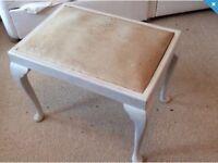 Ladies dressing table stool. Shabby chic.