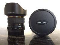 Samyang 14mm f2.8 wide angle lens - canon mount