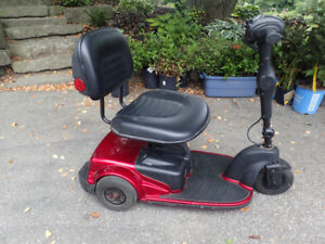 RED Triton Mobility Fold Up Scooter with Battery & Charger