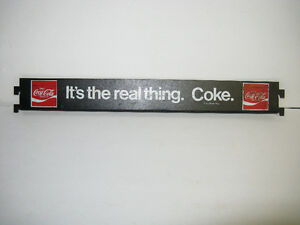 1960'S METAL COCA COLA ~ ITS THE REAL THING BOTTLE DISPLAY SIGN