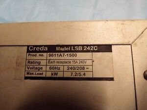 Creda power cord with 220 volt plugs