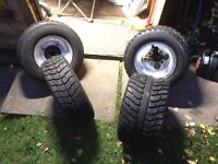 Ltr 450 quad tyres ltz Honda trx wheels road tyres