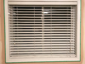 """Levelor White Faux Wood 2"""" Blinds $40 OBO"""