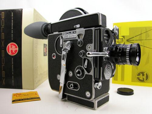 Working BOLEX Rx Reflex 16mm MOVIE CAMERA OUTFIT W/Lens & Box & Instructions