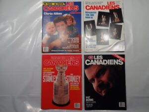 canadiens de montreal lot de 4 revues 1987-91