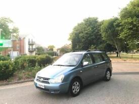 2008 Kia Sedona 2.9 CRDi auto GS 7 Seat Sliding Side Door 5 Door MPV Blue