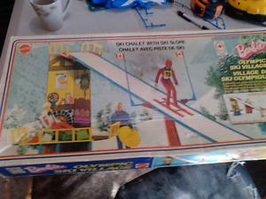 Tres rare Station de ski Barbie 1974 Boite d'origine Complet