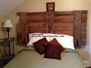 Headboard from an antique barn door. King Size or Queen
