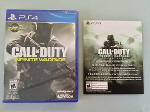 Ps4 Call of Duty:Infinite Warfare+Mw neuf/scellé - 50$
