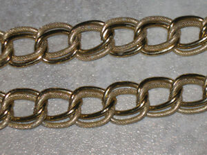 ...CLASSY GOLD METAL CHAIN-STYLE DOUBLE-LINK BELT...