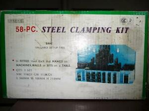 """58 PC SET 5/8"""" T-SLOT CLAMPING KIT 1/2-13 STUDS"""