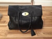 Mulberry Bayswater Black Natural Leather With Brass Very Good Condition