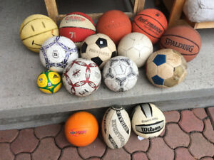 Basketballs, Soccer, Volleyballs, Rugby, Lacrosse, Baseball Mitt