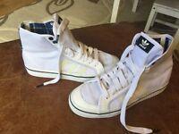 Classic adidas basketball boots nizam uk 6.5 white worn twice