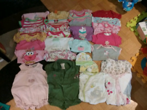 3 - 6 months girl summer clothing