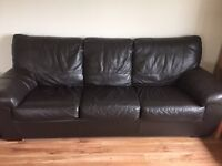 3 Seater Leather Sofabed
