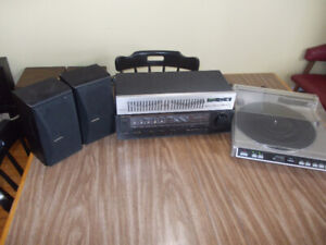 systeme de son: table tournante , receiver , equalizer, speakers
