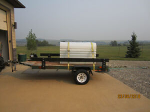 Heavy Steel 12'x5' Utility Trailer & Water Tank and Other