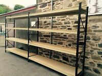 Heavy Duty Racking, sold in runs of 2 or more as shown