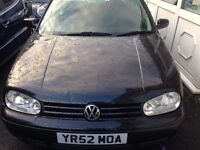Bargain Vw Golf 1.6 Se 5 Door Hatchback 2003 Jet Black Grey Unmarked Velour Trim Long Mot July 2017