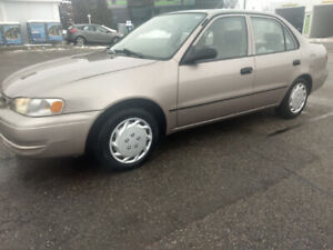 2000 Toyota Corolla Ve Only 109,000 kms.  CERTIFIED !
