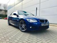 2010 60 Reg BMW 320d M Sport Coupe + Blue + Black Leather + FACELIFT LCI Model