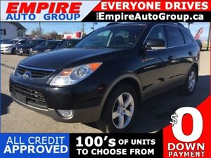 2012 HYUNDAI VERACRUZ AWD * LEATHER * REAR CLIMATE CONTROL * USB