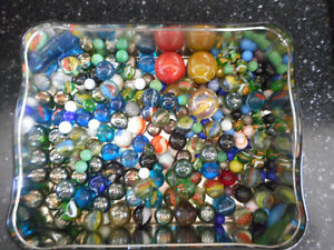 120 Vintage Marbles, various sizes