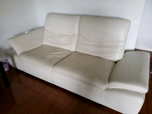 Leather couch Italian