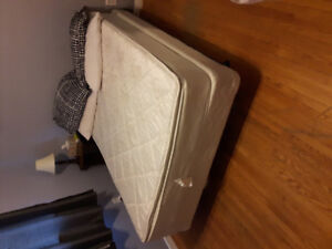Double bed w boxspring and frame