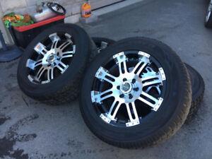 4 super beau mags RTX 20'' avec pneus d'hiver Toyo 6x139.7