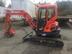 2012 Kubota U35S2 Mini Excavator, Low Hours