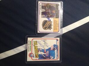 Mike Bossy signed hockey cards
