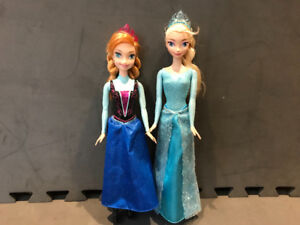 ELSA & ANNA from Disney Frozen Barbie Dolls EXCELLENT LIKE NEW