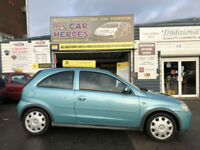 2003 VAUXHALL CORSA DESIGN 16v 1.2 PETROL 3 DR ( AA ) WARRANTED INCLUDED