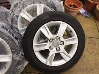 4 GENUINE AUDI A3 ALLOY WHEELS AND RIMS