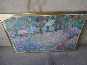 Claude Monet Painting With Frame