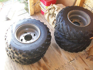 Set of 4 ATV Dunlop Tires and Rims