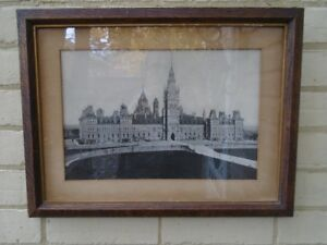 Parliament Canada    Centre Block    Original Century Old Print