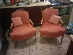Vintage Baker furniture chairs/chaises vintage
