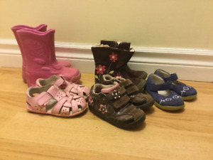 Toddler Shoes/Boots - Girls Size 5W - 7