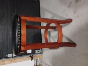 Wood & Leather Stool