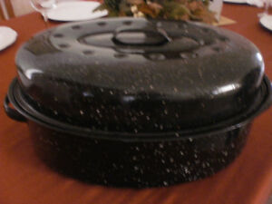 LARGE ENAMEL ROASTING PAN FOR SALE