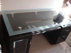 "GLASS TOP OFFICE DESK ""on hold"""