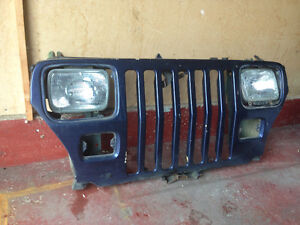 Jeep yj front grill and headlights