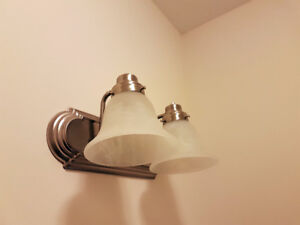 Bathroom Vanity Lights with Frosted Glass (Brand New)