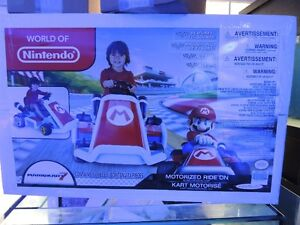 brand new in box Super Mario Kart Ride-On from Jakks Pacific.